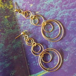 Jewelry - 14K YG STATEMENT EARRINGS.